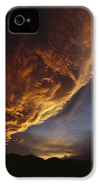 Sunset On Storm Clouds Near Mt Cook IPhone 4 Case