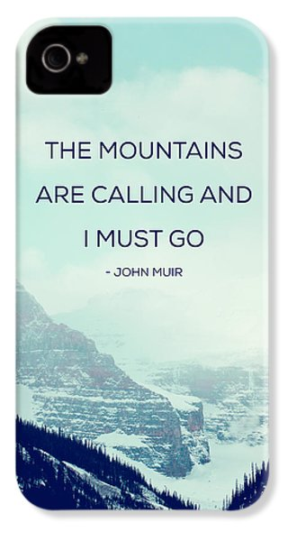 The Mountains Are Calling IPhone 4 / 4s Case by Kim Fearheiley