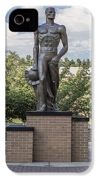The Spartan Statue At Msu IPhone 4 Case by John McGraw