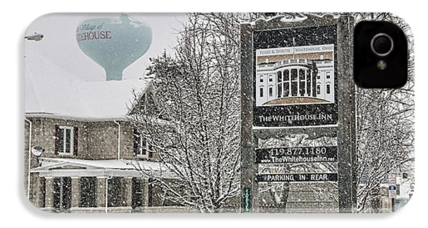 The Whitehouse Inn Sign 7034 IPhone 4 / 4s Case by Jack Schultz