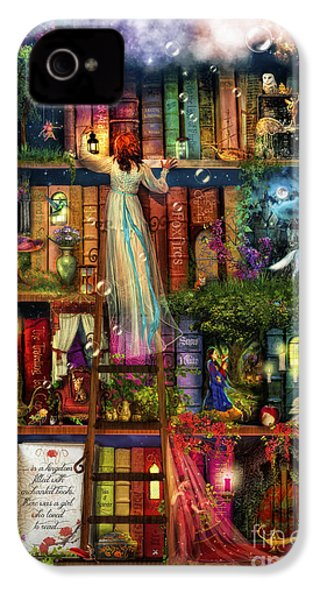Treasure Hunt Book Shelf IPhone 4 / 4s Case by Aimee Stewart