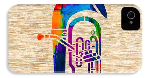 Tuba IPhone 4 / 4s Case by Marvin Blaine