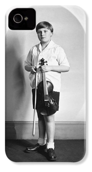 Violinist Yehudi Menuhin IPhone 4 Case by Underwood Archives