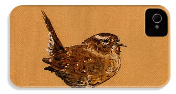 Wren Bird IPhone 4 Case by Juan  Bosco