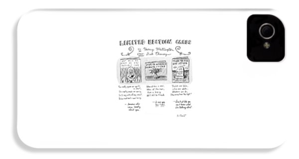 Limited Edition Cards IPhone 4 Case by Roz Chast