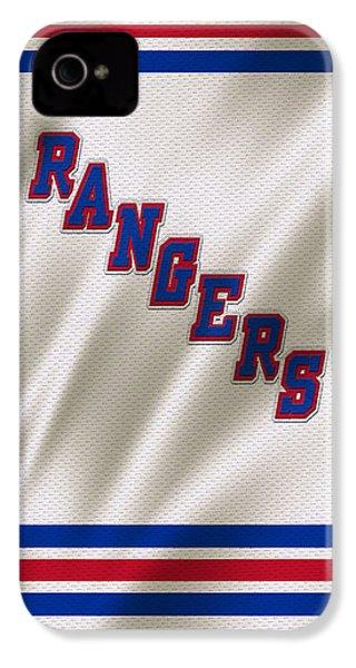 New York Rangers IPhone 4 Case by Joe Hamilton