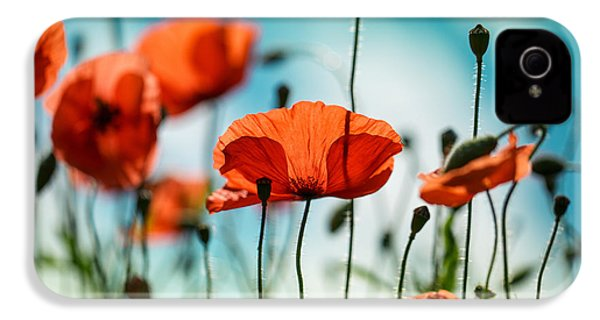 Poppy Meadow IPhone 4 Case by Nailia Schwarz