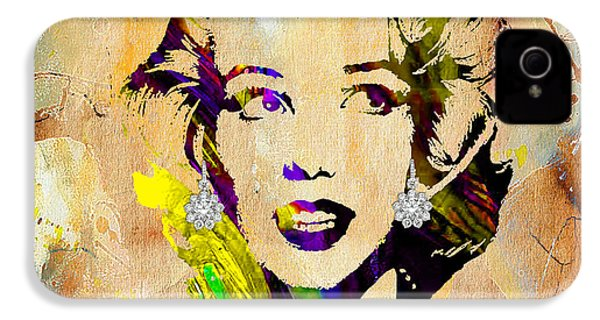Marilyn Monroe Diamond Earring Collection IPhone 4 / 4s Case by Marvin Blaine