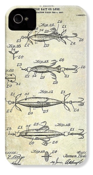 1907 Fishing Lure Patent IPhone 4 Case