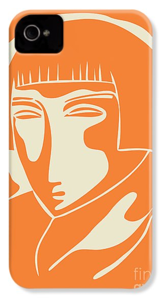 1928 Woman Face   Orange IPhone 4 / 4s Case by Igor Kislev