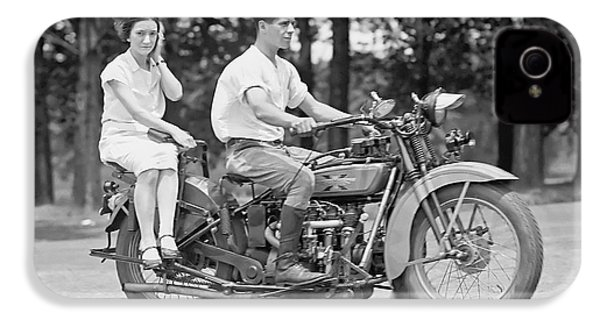 1930s Motorcycle Touring IPhone 4 Case by Daniel Hagerman