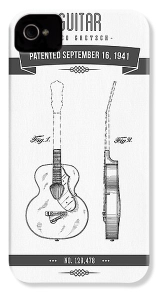 1941 Guitar Patent Drawing IPhone 4 / 4s Case by Aged Pixel