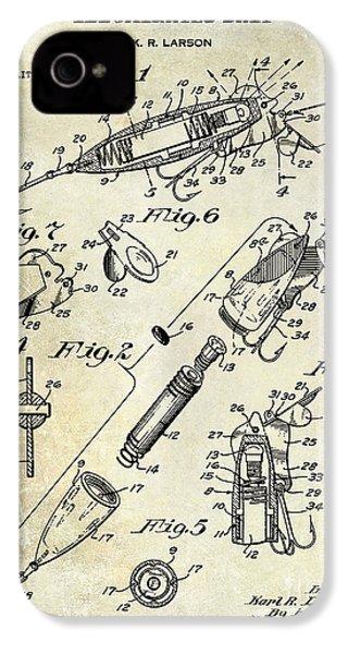 1940 Illuminated Bait Patent Drawing IPhone 4 Case