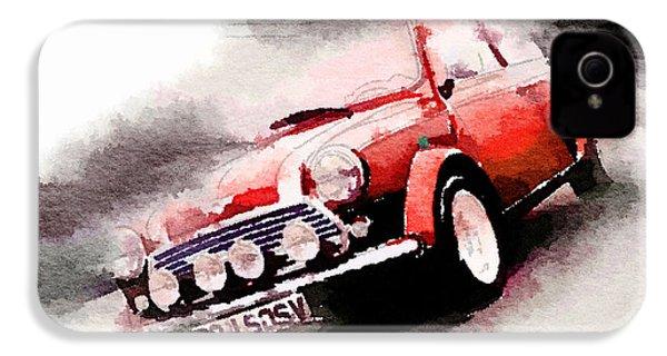 1963 Austin Mini Cooper Watercolor IPhone 4 / 4s Case by Naxart Studio