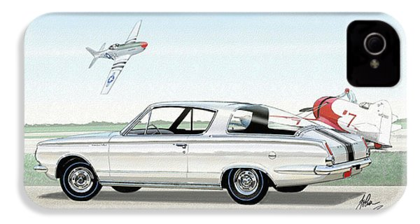 1965 Barracuda  Classic Plymouth Muscle Car IPhone 4 Case by John Samsen