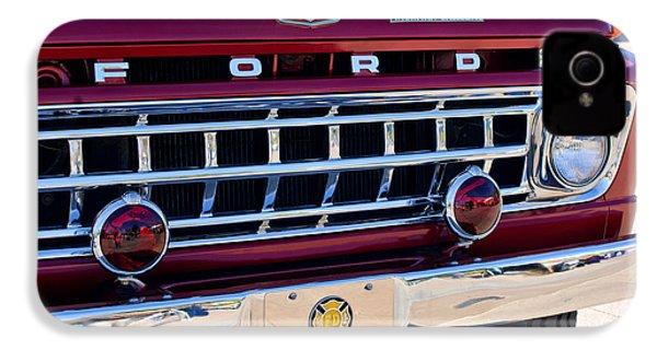 1965 Ford American Lafrance Fire Truck IPhone 4 Case by Jill Reger