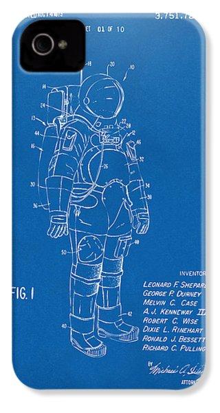1973 Space Suit Patent Inventors Artwork - Blueprint IPhone 4 Case
