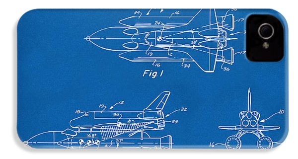 1975 Space Shuttle Patent - Blueprint IPhone 4 Case by Nikki Marie Smith