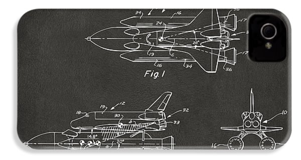 1975 Space Shuttle Patent - Gray IPhone 4 / 4s Case by Nikki Marie Smith