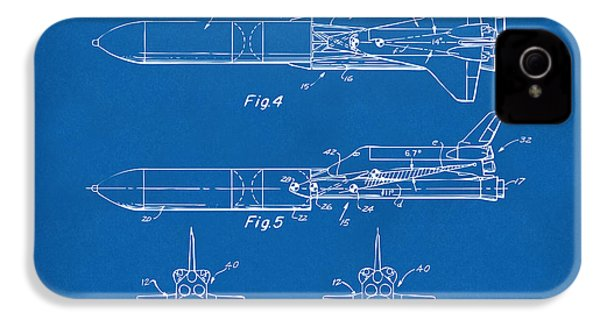 1975 Space Vehicle Patent - Blueprint IPhone 4 / 4s Case by Nikki Marie Smith