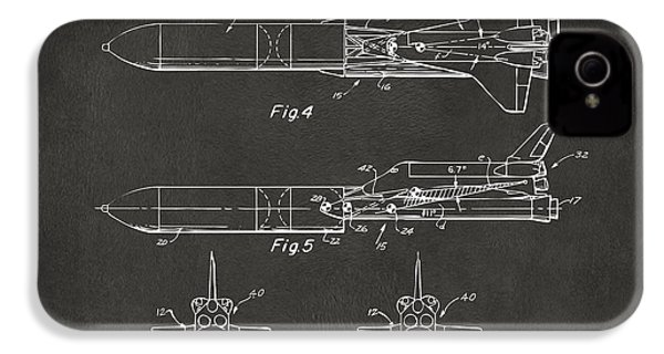 1975 Space Vehicle Patent - Gray IPhone 4 / 4s Case by Nikki Marie Smith