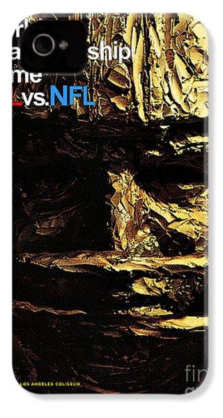 1st Super Bowl Program Cover IPhone 4 / 4s Case by Marvin Blaine