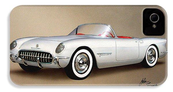 1953 Corvette Classic Vintage Sports Car Automotive Art IPhone 4 Case