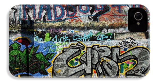 Artistic Graffiti On The U2 Wall IPhone 4 Case by Panoramic Images