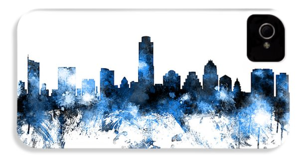 Austin Texas Skyline IPhone 4 Case by Michael Tompsett
