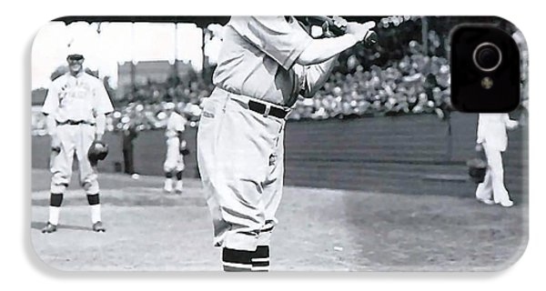 Babe Ruth IPhone 4 / 4s Case by Marvin Blaine
