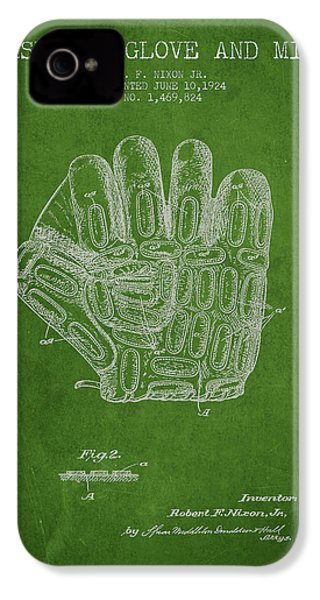 Baseball Glove Patent Drawing From 1924 IPhone 4 Case by Aged Pixel