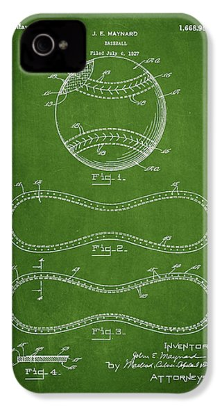 Baseball Patent Drawing From 1927 IPhone 4 Case by Aged Pixel