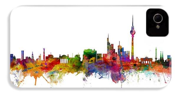 Berlin Germany Skyline IPhone 4 Case by Michael Tompsett