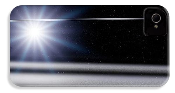 Chariklo Minor Planet And Rings IPhone 4 / 4s Case by Detlev Van Ravenswaay