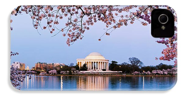 Cherry Blossom Tree With A Memorial IPhone 4 Case by Panoramic Images