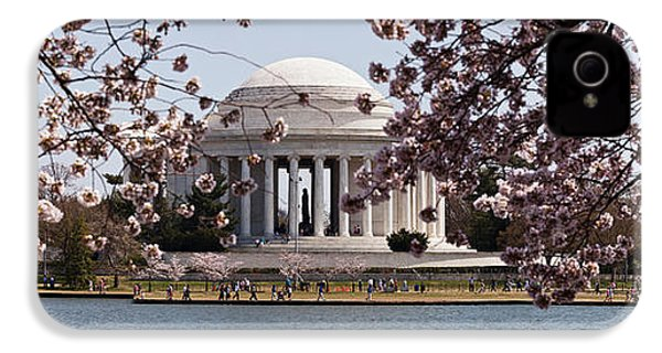 Cherry Blossom Trees In The Tidal Basin IPhone 4 Case by Panoramic Images