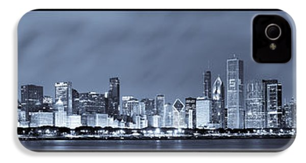 Chicago Skyline At Night IPhone 4 Case by Sebastian Musial
