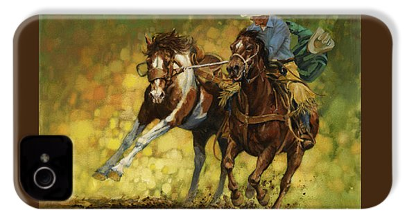 Rodeo Pickup IPhone 4 / 4s Case by Don  Langeneckert