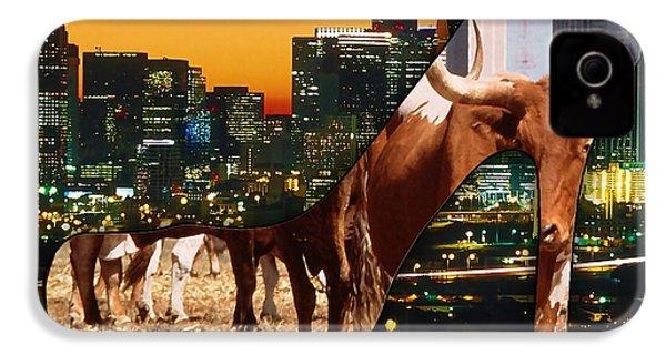 Dallas Texas Skyline IPhone 4 / 4s Case by Marvin Blaine