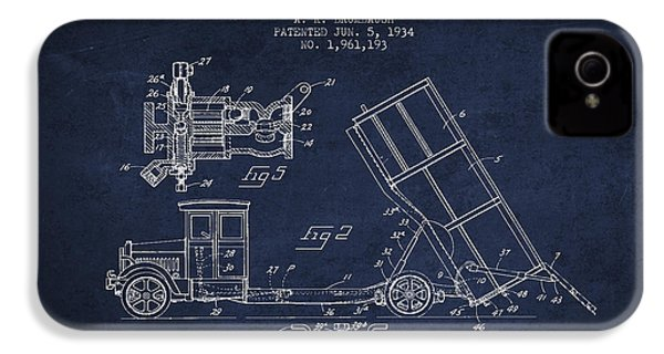 Dump Truck Patent Drawing From 1934 IPhone 4 Case by Aged Pixel