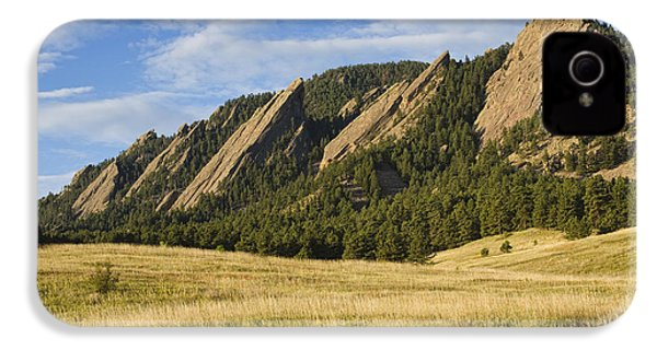 Flatirons With Golden Grass Boulder Colorado IPhone 4 Case by James BO  Insogna