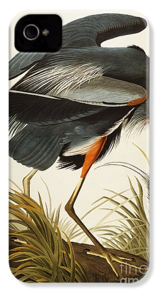 Great Blue Heron IPhone 4 Case by John James Audubon