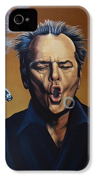 Jack Nicholson Painting IPhone 4 Case by Paul Meijering