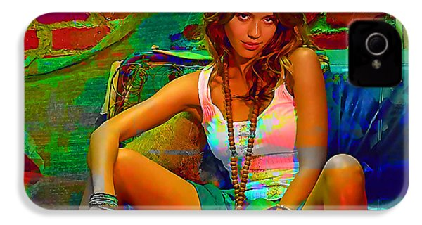 Jessica Alba IPhone 4 / 4s Case by Marvin Blaine