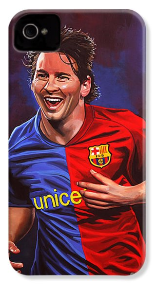 Lionel Messi  IPhone 4 Case by Paul Meijering