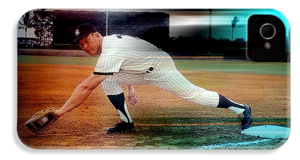 Mickey Mantle IPhone 4 / 4s Case by Marvin Blaine