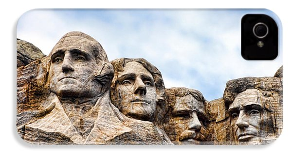 Mount Rushmore Monument IPhone 4 Case by Olivier Le Queinec