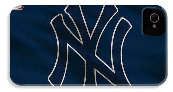 New York Yankees Uniform IPhone 4 / 4s Case by Joe Hamilton