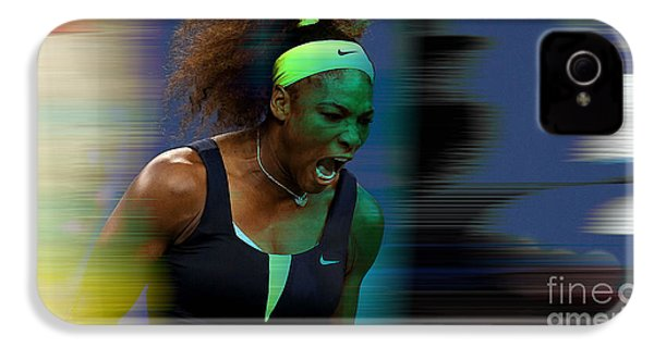 Serena Williams IPhone 4 Case by Marvin Blaine