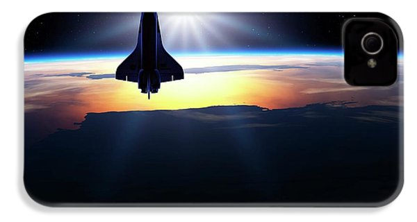 Space Shuttle In Orbit IPhone 4 Case by Detlev Van Ravenswaay